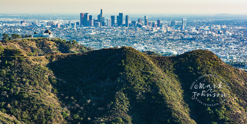 Griffith Observatory, Griffith Park & Downtown Los Angeles, California, USA