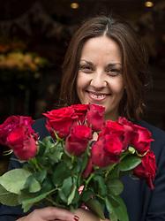 Scottish Labour leader Kezia Dugdale visits Rowan Flowers in Edinburgh as part of Labour's campaign push in Edinburgh East.<br /> <br /> © Dave Johnston/ EEm