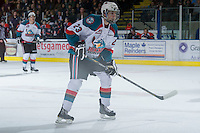 KELOWNA, CANADA - DECEMBER 27:  Justin Kirkland #23 of the Kelowna Rockets skates on the ice against the Kamloops Blazers at the Kelowna Rockets on December 27, 2012 at Prospera Place in Kelowna, British Columbia, Canada (Photo by Marissa Baecker/Shoot the Breeze) *** Local Caption ***