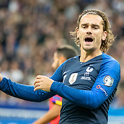PARIS, FRANCE - September 10:   Antoine Griezmann #7 of France reacts during the France V Andorra, UEFA European Championship 2020 Qualifying match at Stade de France on September 10th 2019 in Paris, France (Photo by Tim Clayton/Corbis via Getty Images)
