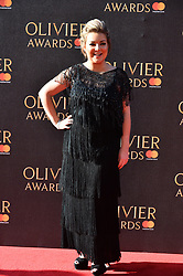 © Licensed to London News Pictures. 09/04/2017.  SHERIDAN SMITH attends The Olivier Awards held at the Royal Albert Hall. London, UK. Photo credit: Ray Tang/LNP