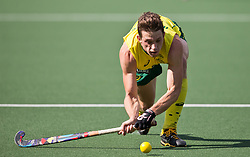 Hockey World Cup 2014<br /> The Hague, Netherlands <br /> Day 5- Men Australia v Belgium<br /> Simon Orchard<br /> <br /> Photo: Grant Treeby<br /> www.treebyimages.com.au