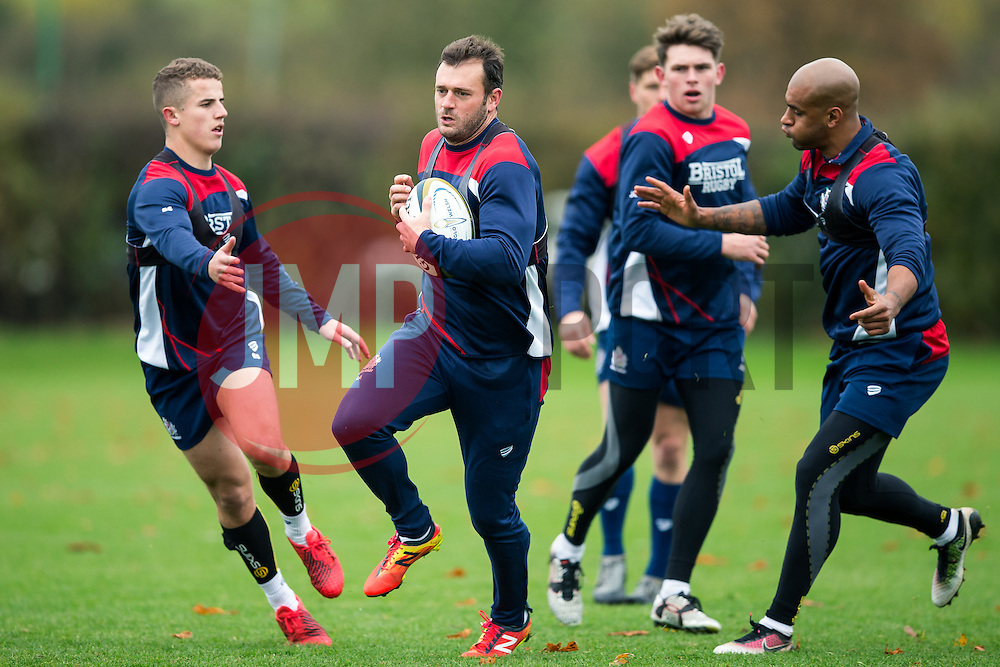 Luke Arscott of Bristol Rugby in action during training ahead of the Anglo Welsh Cup clash against Sale Sharks - Rogan Thomson/JMP - 08/11/2016 - RUGBY UNION - Clifton Rugby Club - Bristol, England - Bristol Rugby Training.