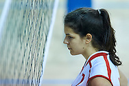 SO Serbia athlete in action while Unified Volleyball match between SO Serbia and SO USA Costa Rica during sixth day of the Special Olympics World Games Los Angeles 2015 on July 30, 2015 at Pauley Pavilion at UCLA (University of California Los Angeles) in Los Angeles, USA.<br /> <br /> USA, Los Angeles, July 30, 2015<br /> <br /> Picture also available in RAW (NEF) or TIFF format on special request.<br /> <br /> For editorial use only. Any commercial or promotional use requires permission.<br /> <br /> Adam Nurkiewicz declares that he has no rights to the image of people at the photographs of his authorship.<br /> <br /> Mandatory credit:<br /> Photo by © Adam Nurkiewicz / Mediasport