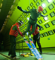 19.10.2013, Klima Wind Kanal, Wien, AUT, OESV, Nordische Kombination Skisprungtraining im Wind Kanal, im Bild Tomaz Druml // during the Skijump training in the Climatic Wind Tunnel, Austria 20131019. EXPA Pictures © 2013, PhotoCredit: EXPA/ Sascha Trimmel