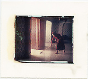 Sweeping the entryway to hotel, Morocco<br />