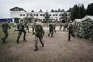Everyday life in Rukla's military base. The base also accommodates of NATO military personnel.