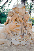 Little Red Riding Hood Sand Sculpture