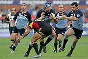 Victor Matfield on the charge in Saturdays clash at Securicor Loftus between the Bulls and the Chiefs. The Bulls won 29 - 26
