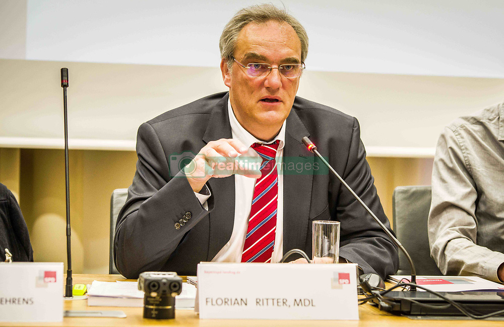 April 4, 2017 - Bavarian parliamentarian Florian Ritter (SPD) holds a conference on the ongoing NSU terror cell process, which has cost tens of millions of Euros and appears to be making little progress towards prosecutions.  Much criticism lies in the involvement of law enforcement and the Verfassungsschutz (secret monitoring service to protect the constitution) and their alleged involvement.  Futhermore, the investigations appeared to have had racist motivations as families of victims were put under international suspicion for the murders of their loved ones. (Credit Image: © Sachelle Babbar via ZUMA Wire)