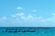 Outrigger Canoe race, Hawaii<br />