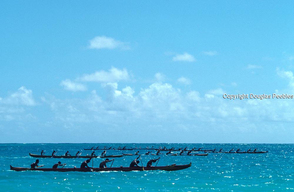 Outrigger Canoe race, Hawaii<br />