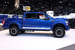 09 February 2017: 2017 Ford Shelby F150 <br /> <br /> First staged in 1901, the Chicago Auto Show is the largest auto show in North America and has been held more times than any other auto exposition on the continent.  It has been  presented by the Chicago Automobile Trade Association (CATA) since 1935.  It is held at McCormick Place, Chicago Illinois<br /> #CAS17