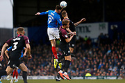 Oliver Hawkins heads the ball during the EFL Sky Bet League 1 match between Portsmouth and Peterborough United at Fratton Park, Portsmouth, England on 7 December 2019.