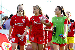 Bristol City Women subs walk out at Stoke Gifford Stadium for the fixture against Bristol City Women - Mandatory by-line: Robbie Stephenson/JMP - 31/05/2017 - FOOTBALL - Stoke Gifford Stadium - Bristol, England - Bristol City Women v Chelsea Ladies - FA Women's Super League Spring Series