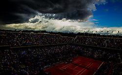 June 6, 2017 - Paris, France - Dark clouds are arriving during the quarterfinals at Roland Garros Grand Slam Tournament - Day 10 on June 6, 2017 in Paris, France. (Credit Image: © Robert Szaniszlo/NurPhoto via ZUMA Press)