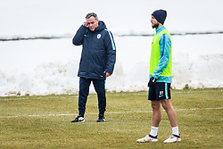 Tomaz Kavcic and Tim Matavz during Training of Slovenian National Football team before friendly matches with Austria and Belarus, on March 19, 2018 in Football National Centre, Brdo pri Kranju, Kranj, Slovenia. Photo by Ziga Zupan / Sportida