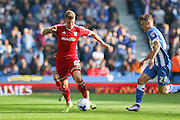 Cardiff City midfielder Anthony Pilkington on the ball during the Sky Bet Championship match between Brighton and Hove Albion and Cardiff City at the American Express Community Stadium, Brighton and Hove, England on 3 October 2015. Photo by Phil Duncan.