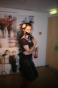 Valentina Tiurvini. i-Dentity opening. Celebrating 25 years of i-D. Fashion and Textile magazine. Ber5mondsey St. London. SE1. 13 October  2005. ONE TIME USE ONLY - DO NOT ARCHIVE © Copyright Photograph by Dafydd Jones 66 Stockwell Park Rd. London SW9 0DA Tel 020 7733 0108 www.dafjones.com