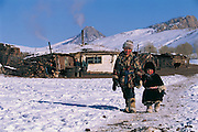 Kazakh children<br /> Mongolia's largest ethnic minority<br /> winter<br /> Western Mongolia