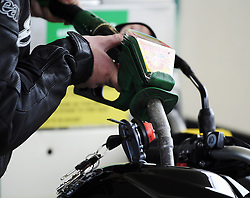 © Licensed to London News Pictures. 30/03/2012.Petrol Panic buying today 30.03.2012..Ashdene Petrol Station, Hurst Green, East Sussex..Photo credit : Grant Falvey/LNP
