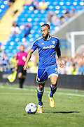 Jazz Richards of Cardiff City during the EFL Sky Bet Championship match between Cardiff City and Leeds United at the Cardiff City Stadium, Cardiff, Wales on 17 September 2016. Photo by Andrew Lewis.