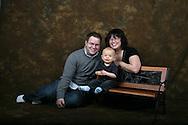 Studio portrait parents and son.  San Antonio family photographer soobum brings studio gear on location for family portrait photo session.