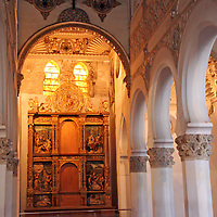 Europe, Spain, Toledo. Santa María la Blanca Synagogue.