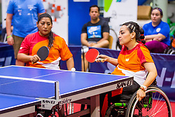 (Team MEX) SIGALA LOPEZ Edith and VERDIN Martha in action during 15th Slovenia Open - Thermana Lasko 2018 Table Tennis for the Disabled, on May 11, 2018 in Dvorana Tri Lilije, Lasko, Slovenia. Photo by Ziga Zupan / Sportida