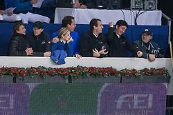 Staut Kevin (FRA), Leprevost Penelope (FRA), Melchior Judy Ann (BEL), Ahlmann Christian (GER), Wathelet Gregory (BEL), Guerdat Steve (SUI)<br /> Rolex FEI World Cup Jumping<br /> Flanders Christmas Jumping - Mechelen 2012<br /> © Dirk Caremans