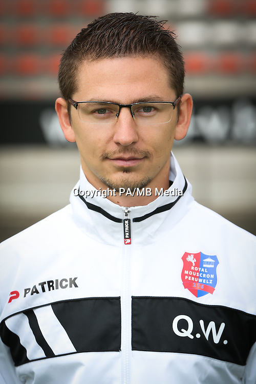 Quentin Walcarius pictured during the 2015-2016 season photo shoot of Belgian first league soccer team Royal Mouscron Peruwelz, Thursday 16 July 2015 in Mouscron.