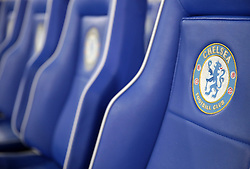 A view of Chelsea branded seats before the UEFA Europa League round of 32 second leg match at Stamford Bridge, London.