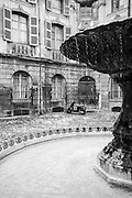 A magical place, where everything competes to suggest a theatrical scene, the square was created in 1745, when the Marquis Jean Baptiste d'Albertas had the houses opposite his mansion demolished.<br /> This leading Aix family lived a very luxurious life at the time.The vast mansion, altered in 1724, and the rococo style square are the work of the Vallons (father and son) who found inspiration in the fashionable royal squares of Paris.At the centre, the fountain with its basin dates back to 1912.