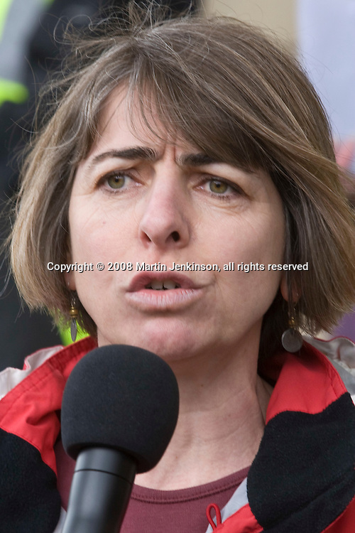 Rhoda Andruchow, Regional Officer, Yorkshire/Midland Region, NUT  speaking at the NUT & PCS National strike rally, Sheffield..© Martin Jenkinson, tel 0114 258 6808 mobile 07831 189363 email martin@pressphotos.co.uk. Copyright Designs & Patents Act 1988, moral rights asserted credit required. No part of this photo to be stored, reproduced, manipulated or transmitted to third parties by any means without prior written permission