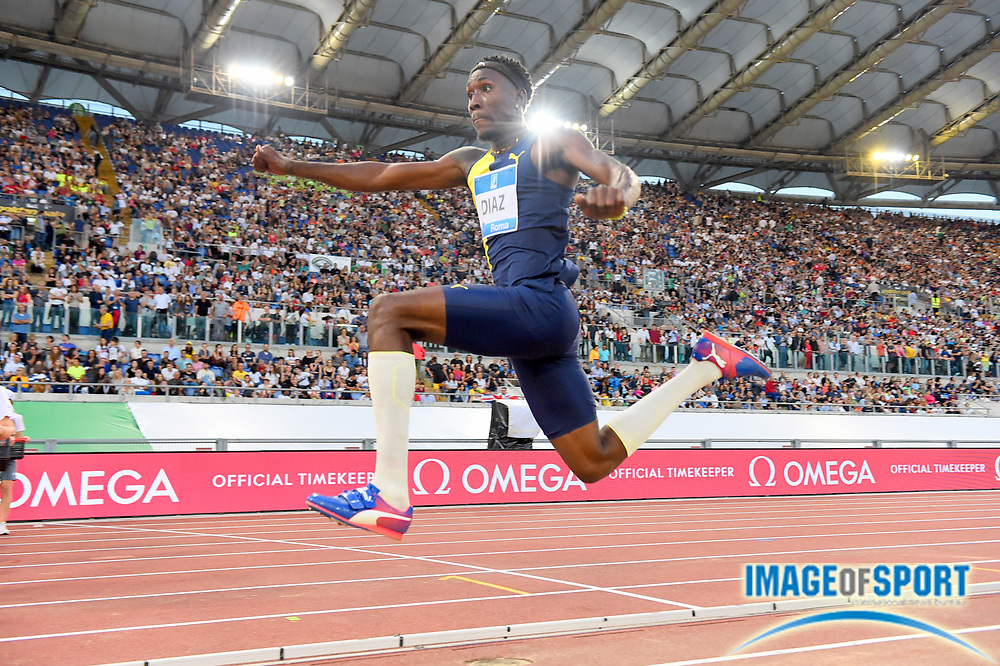 Andy Díaz (CUB) places sixth in the triple jump at 55-9¼ (17.00m) during the 39th Golden Gala Pietro Menena in an IAAF Diamond League meet at Stadio Olimpico in Rome on Thursday, June 6, 2019. (Jiro Mochizuki/Image of Sport)