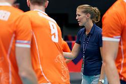 13-09-2019 NED: EC Volleyball 2019 Netherlands - Montenegro, Rotterdam<br /> First round group D Netherlands win 3-0 / Nevobo crew, leanne