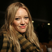Actress Hilary Duff photographed on Broadway