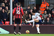 Goal - Heung-Min Son (7) of Tottenham Hotspur scores a goal to make the score 1-2 during the Premier League match between Bournemouth and Tottenham Hotspur at the Vitality Stadium, Bournemouth, England on 11 March 2018. Picture by Graham Hunt.