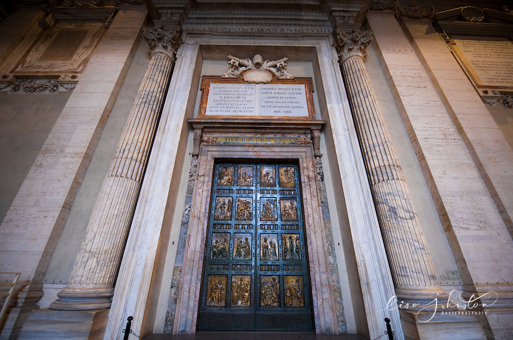 Millenium bronze doors at St. Peter's Basilica.