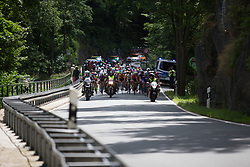 The peloton approaches the first categorised climb of Stage 1 of the Lotto Thuringen Ladies Tour - a 124.8 km road race, starting and finishing in Schleiz on July 13, 2017, in Thuringen, Germany. (Photo by Balint Hamvas/Velofocus.com)