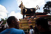 The Lembu ( Giant bull-shaped a container for the cremation). already finish for Pelebon ceremony of Anak Agung Niang Rai of Puri Agung Ubud, The wife of King Of Ubud. Pelebon Ceremony or  Ngaben ceremony is a ceremony to purify and return the  five element of the universe that form the life itself in human body to the universe