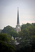 20120817 The Davidson College Presbyterian Church steeple is a Davidson icon.<br /> photo by Laura Mueller<br /> www.lauramuellerphotography.com