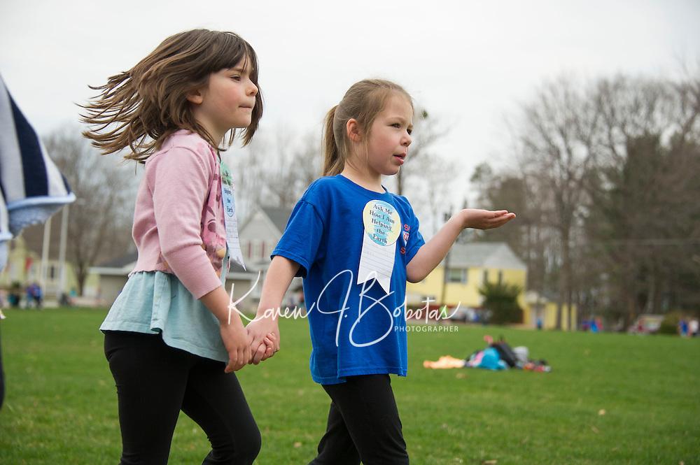 Elm Street School's Tiger Trek at Leavitt Park.  Karen Bobotas for the Laconia Daily Sun