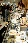 traditional Japanese food counter in one of the many department stores in Tokyo