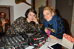 Left to right, BEN GRIMES and BAY GARNETT at a party hosted by Melissa Del Bono to celebrate the launch of her Meli Melo flagship store at 324 Portobello Road, London W10 on 28th November 2013.