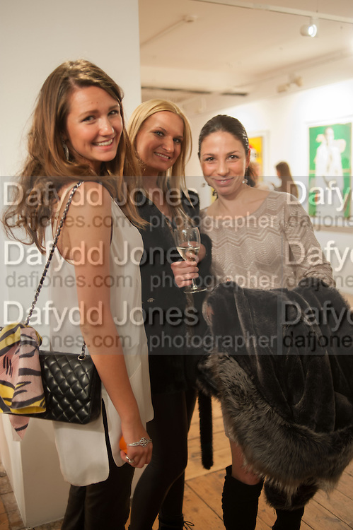 OLIA SARDAROVA; ANNA SHUBINA; DINA BERDNIKOV, Pakpoom Silaphan 'Empire State' Opening Reception, Scream. Eastcastle St. London. 21 February 2013