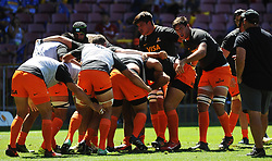 Cape Town-180217 Jaguares players  warming up before their Super 15 rugby game against Stomers at Newlands Stadium in Cape Town.photograph:Phando Jikelo/African News Agency/ANA