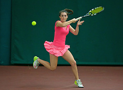 LIVERPOOL, ENGLAND - Wednesday, June 17, 2015: Ellie Tsimbilakis during qualifying for the Liverpool Hope University International Tennis Tournament at Watertree Tennis Centre. (Pic by David Rawcliffe/Propaganda)