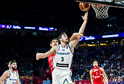 Boban Marjanovic of Serbia vs Goran Dragic of Slovenia during the Final basketball match between National Teams  Slovenia and Serbia at Day 18 of the FIBA EuroBasket 2017 at Sinan Erdem Dome in Istanbul, Turkey on September 17, 2017. Photo by Vid Ponikvar / Sportida