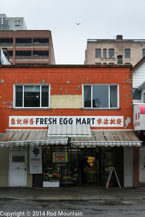 The Fresh Egg Mart store at 269 E Georgia Street in Vancouver&rsquo;s Chinatown. <br /> Photo: &copy; Rod Mountain<br /> <br /> http://bit.ly/Van-Chinatown<br /> @rod_mountain<br /> https://twitter.com/rod_mountain<br /> <br /> http://www.rodmountain.com/archive